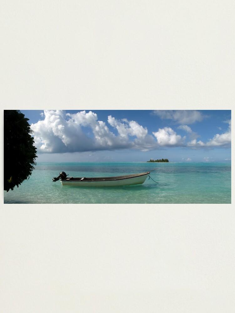 Alternate view of Longboat at Tsoi-lik Village Photographic Print