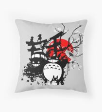 Japan Spirits Throw Pillow
