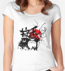 Japan Spirituosen Tailliertes Rundhals-Shirt