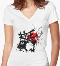Japan Spirits Women's Fitted V-Neck T-Shirt