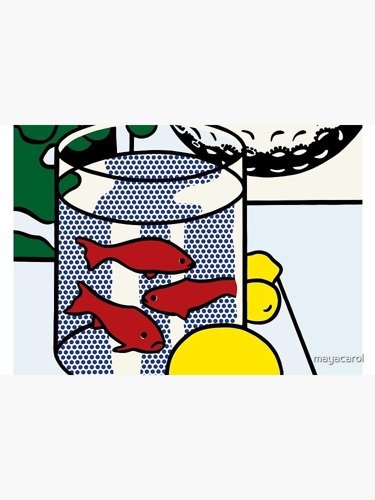Vectorized Lichtenstein pop art by mayacarol