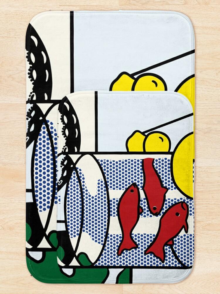Alternate view of Vectorized Lichtenstein pop art Bath Mat