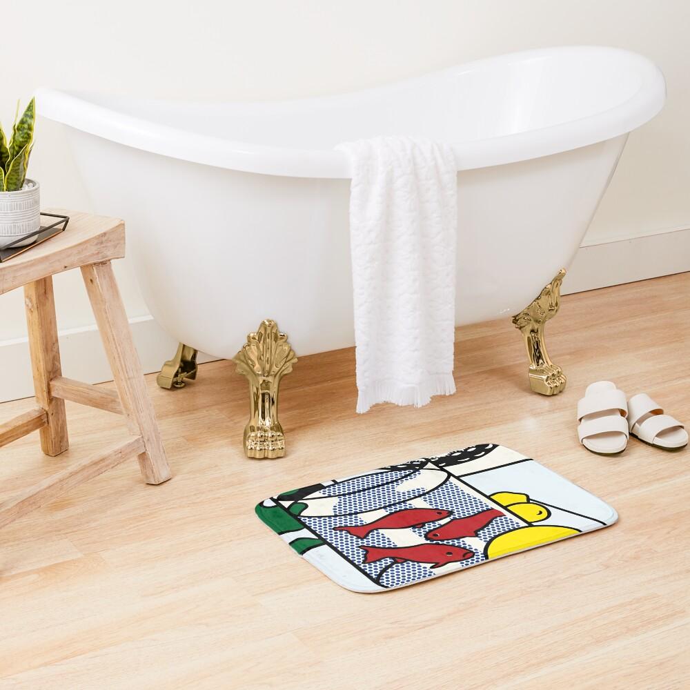 Vectorized Lichtenstein pop art Bath Mat