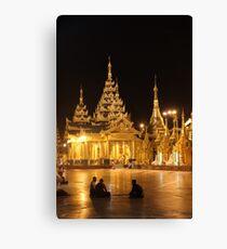 Monks: Silent Conversation Canvas Print