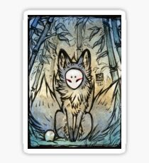 Three Tails - Kitsune Fox Yokai  Sticker