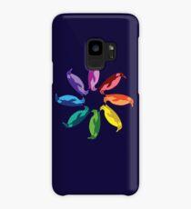 Color: Emperor Penguin Rainbow Pinwheel Case/Skin for Samsung Galaxy