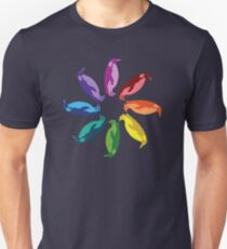 Color: Emperor Penguin Rainbow Pinwheel T-Shirt