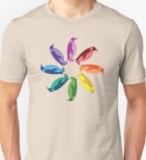 Color: Emperor Penguin Rainbow Pinwheel Unisex T-Shirt