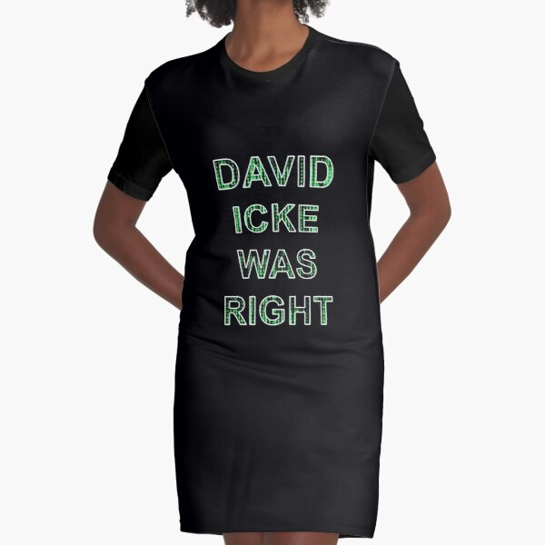 ICKE WAS RIGHT T SHIRT DAVID ICKE ILLUMINATI ALL SEEING EYE CONSPIRACY