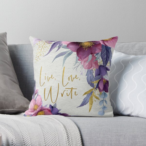 Live, Love, Write Throw Pillow