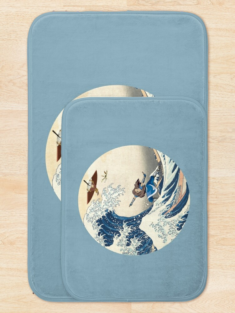 Alternate view of Great Wave Off Kyoshi Island Bath Mat