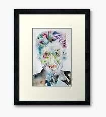GEORGE ORWELL - watercolor portrait.5 Framed Print