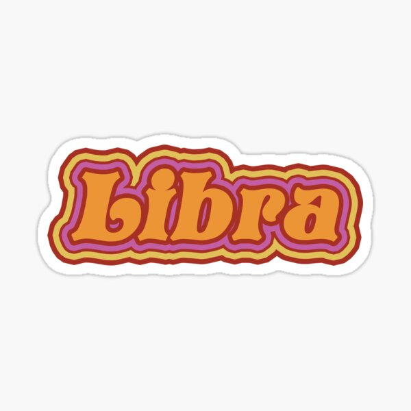 Zodiac Libra Pegatina