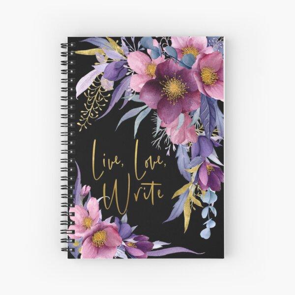 Live, Love, Write Spiral Notebook