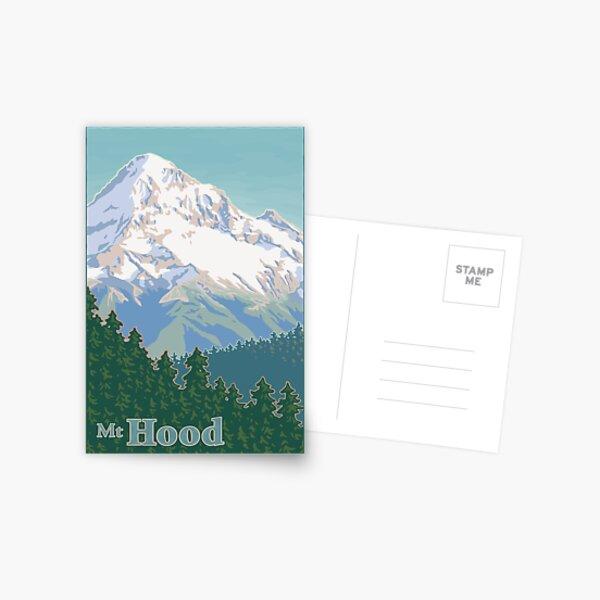 Vintage Mount Hood Travel Poster Postcard