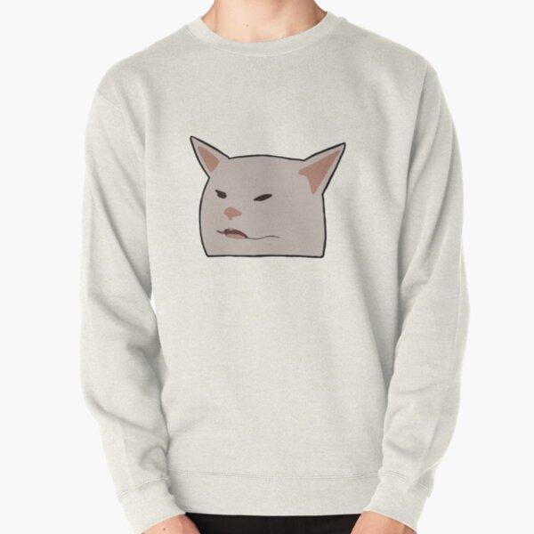 women yelling at cat meme doodle Pullover Sweatshirt