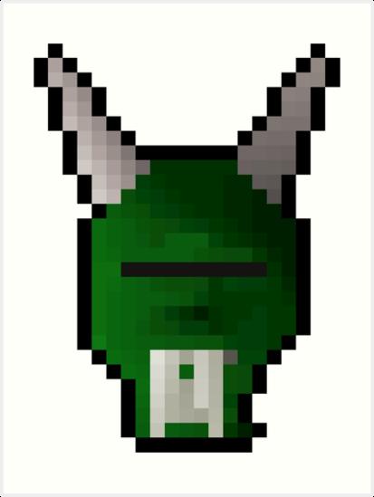 Green h'ween mask