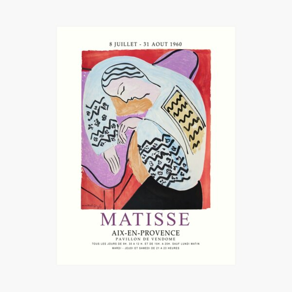 Matisse Exhibition - Aix-en-Provence - The Dream Artwork Art Print