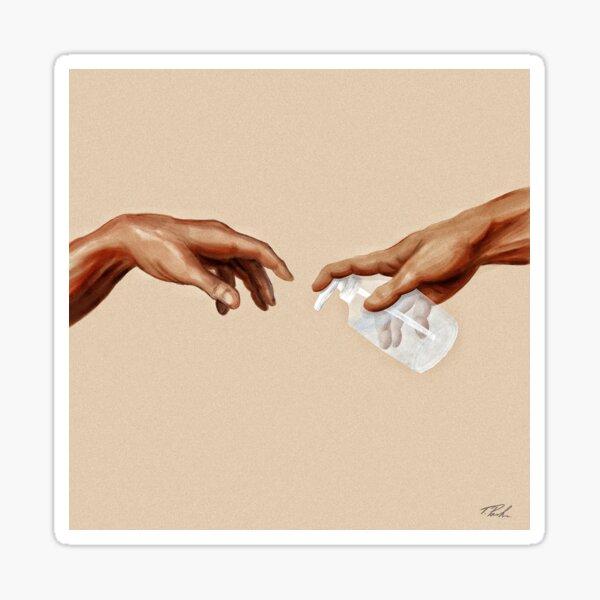 Michelangelo - Wash Your Hands Sticker