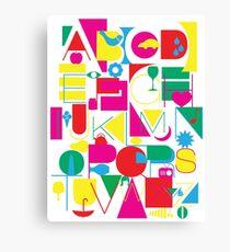 Graphic Alphabet Canvas Print
