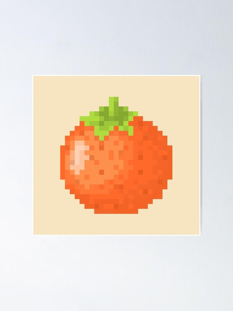 Orange Pixel Art Animal Villager Poster By Rebeccaceleste Redbubble