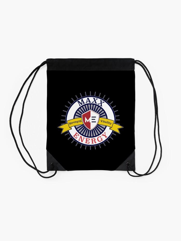 Alternate view of Positive Maxx Energy Optimistic Attitude Meditate. Drawstring Bag