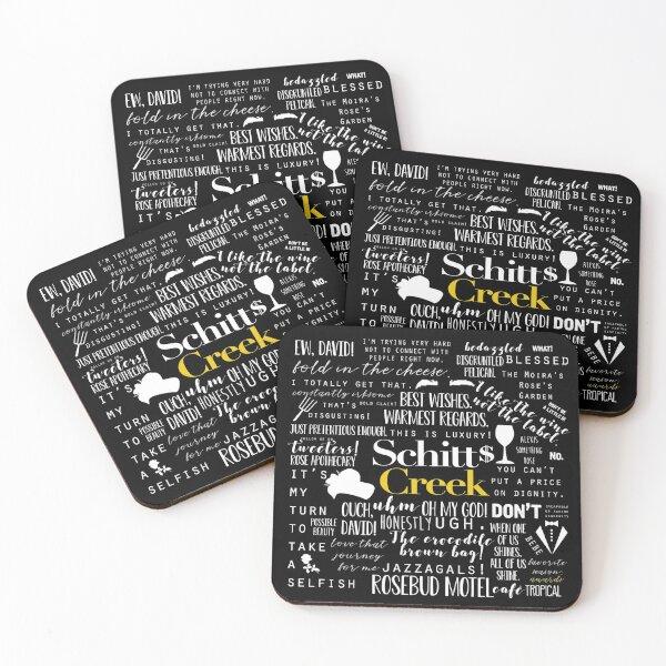 Schitt's Creek Memorable Quotes  Coasters (Set of 4)