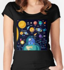 Space Universe Solar Big Bang Women's Fitted Scoop T-Shirt