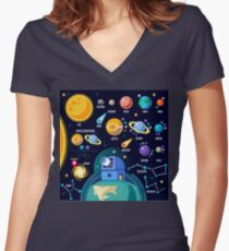 Universe Concept Isometric Women's Fitted V-Neck T-Shirt
