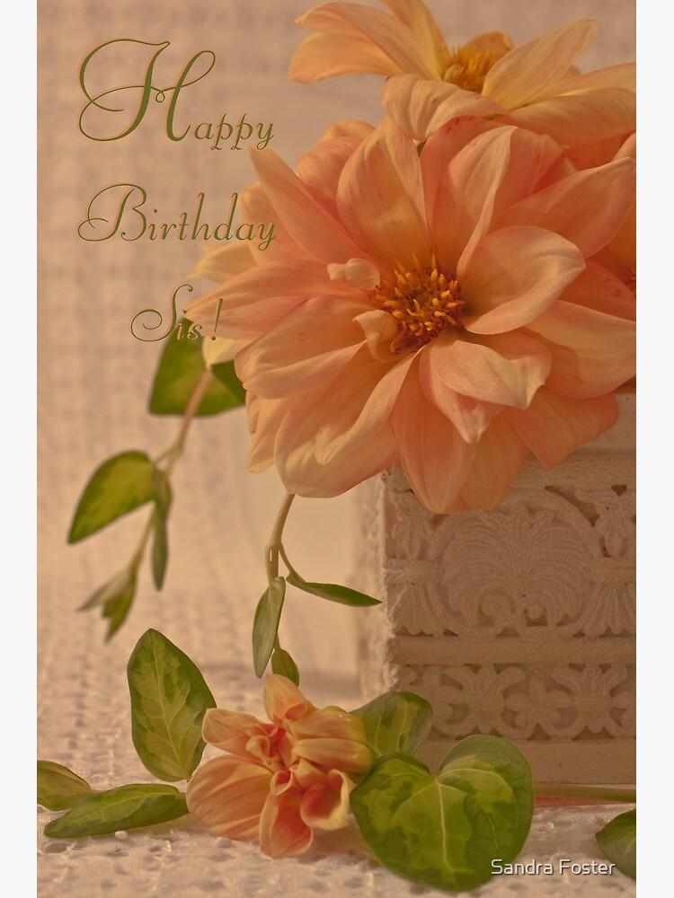 Joyeux Anniversaire Sis Carte D Anniversaire Pour Soeur Cartes De Voeux Papeterie Maison Amphiba Com