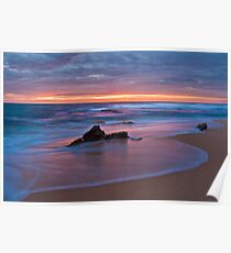 Sunset from Gibson Beach Poster