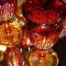 Ruby Red Glass by WildestArt