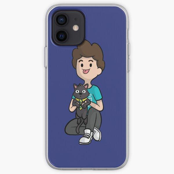Denis and Sir Mews Cartoon iPhone Soft Case