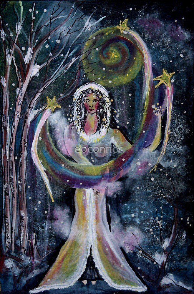 Quot Winter Solstice Moon And Stars Maiden Quot By Eoconnor