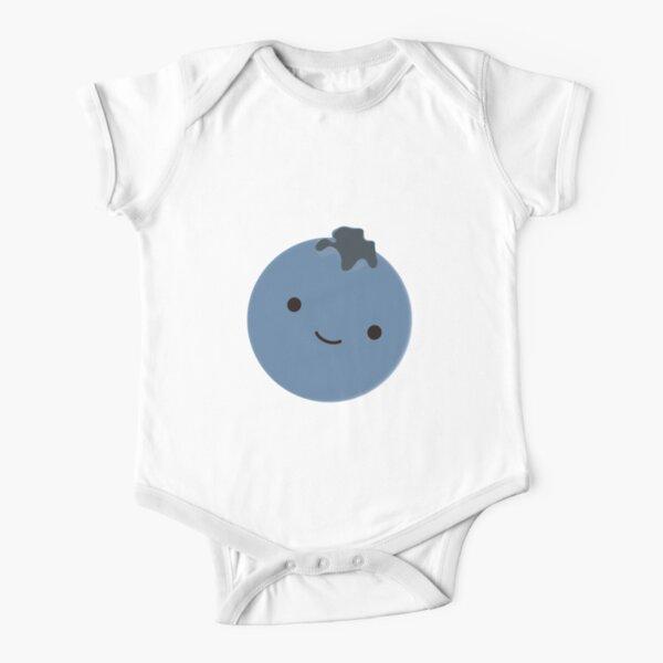 Cute Kawaii Blueberry Short Sleeve Baby One-Piece