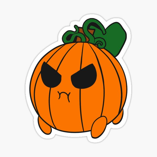 Grumpy Baby Pumpkin Sticker