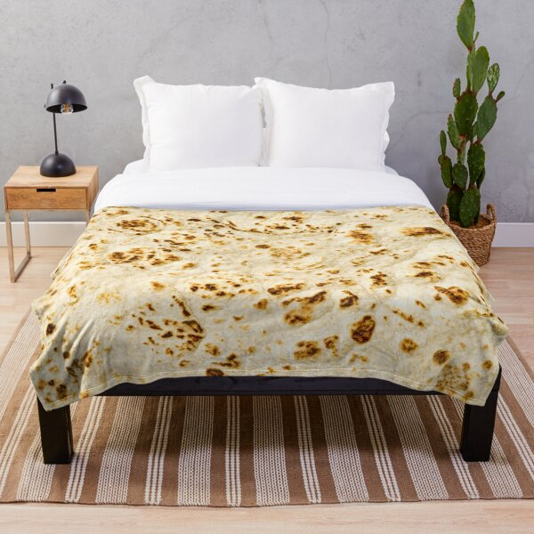 Delicious Pita Bread Funny Art Pattern Throw Blanket