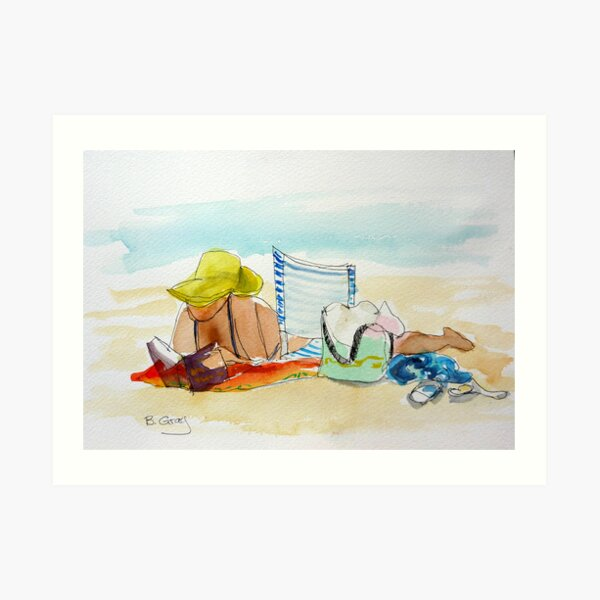 Sunday afternoon at the beach 1 Art Print