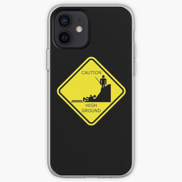 Caution High ground design iPhone Soft Case