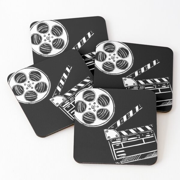 Movies, Film and Clapperboard Coasters (Set of 4)
