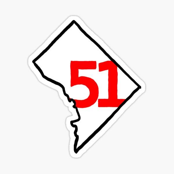 Washington DC Statehood 51 Sticker