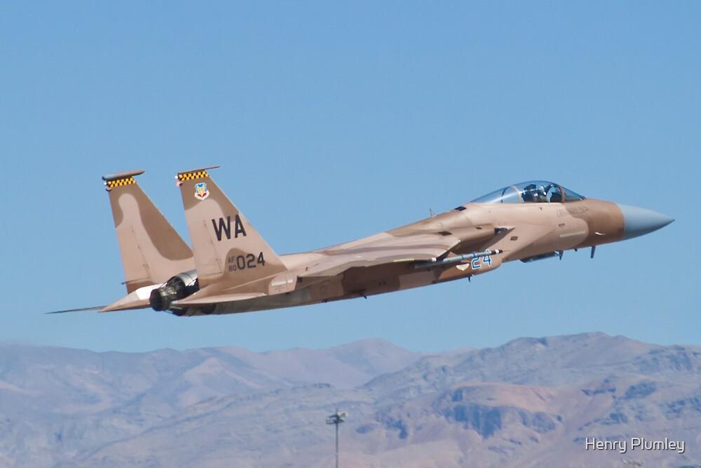 F-15C Eagle #WA AF 80-0024 Taking Off by Henry Plumley