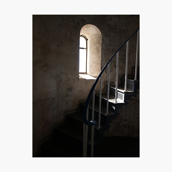 South Solitary Island Lighthouse Stairs Photographic Print