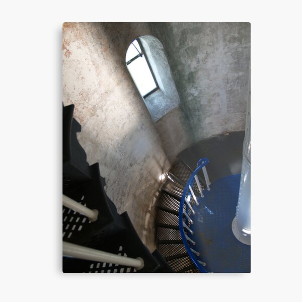 South Solitary Island Lighthouse Spiral Staircase Metal Print