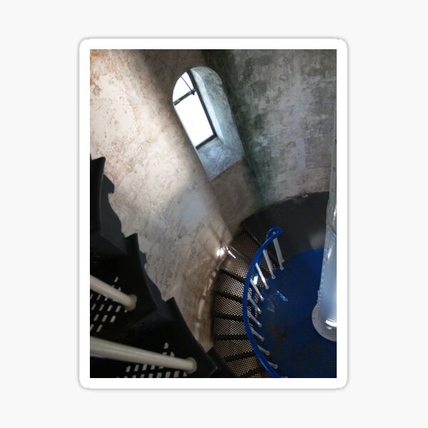 South Solitary Island Lighthouse Spiral Staircase Sticker