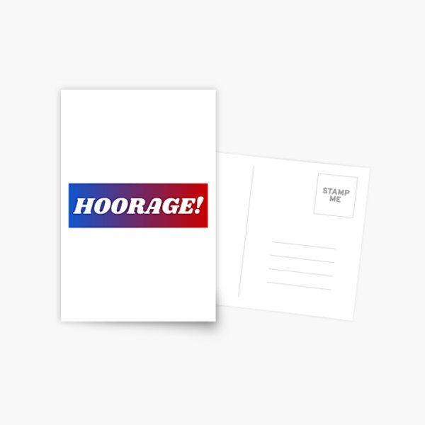 Hoorage! Postcard