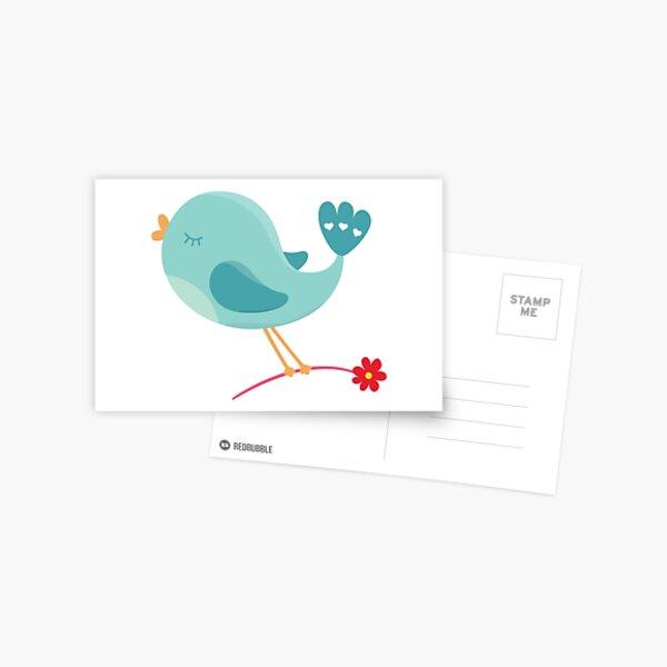 Valentines Day Bird In Love Postcard
