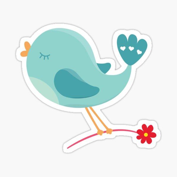Valentines Day Bird In Love Sticker