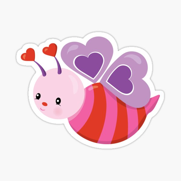 Valentines Day Buzzing With Love Anticipation Sticker