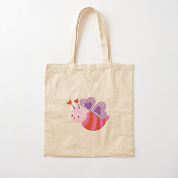 Valentines Day Buzzing With Love Anticipation Cotton Tote Bag